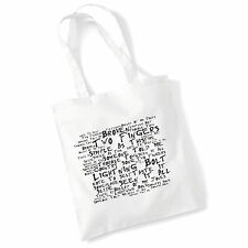 ART Studio Tote Bag Jake Bugg testi stampa ALBUM POSTER palestra spiaggia shopper regalo