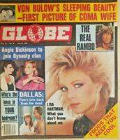 Globe Magazine July 23 1985 Lisa Hartman - Dallas - Angie Dickinson - Von Bulow