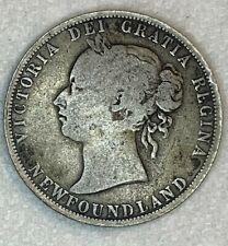 1885 CANADA NEWFOUNDLAND 50 CENT SILVER