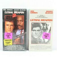 Lethal Weapon & Lethal Weapon 2 VHS 1987 Mel Gibson Danny Glover SEALED