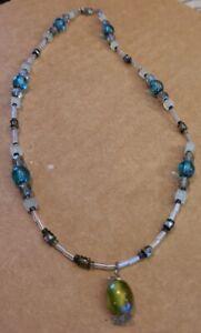 "Handmade Jewelry - Women's 16"" Necklace - Glass Beads, Quality Clasp - New GKN1"