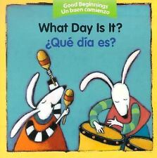 What Day Is It?/Que Dia Es? (Board Book)