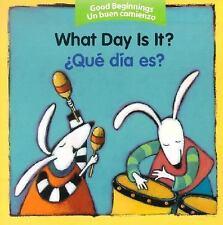 Qué Día Es? by American Heritage Dictionary Editors (2005, Board Book)