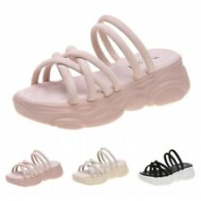 Summer Women Casual Outdoor Thick Bottom Sandals Slip On Wedge Heel Shoes Soft D