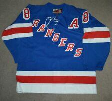Vtg Eric Lindros New York Rangers  AUTHENTIC Hockey Jersey Sz 48