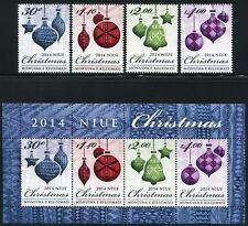 Niue 2014 Weihnachten Christmas Christbaumkugeln 1232-35 Block 174 MNH