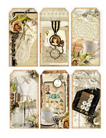 Lace Large Tag Style Glossy Finish Card Making Toppers - Crafts Embellishment