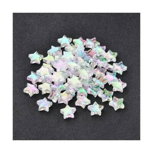 Clear Acrylic Beads Star 10mm AB Pack Of 100+
