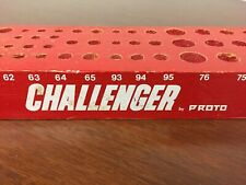 Vintage CHALLENGER By PROTO Store Display Organizer Wood Holder Punch Chisel