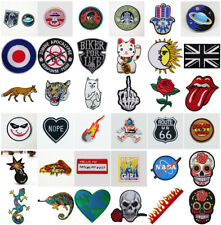 Embroidery Sew On / Iron On Patch Badges Bags Hat Cap Jeans Applique Craft DIY