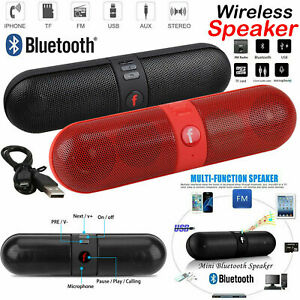Portable Pill Wireless Bluetooth Outdoor Speaker Supports FM USB functions z.14a
