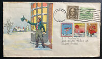 1930s  Chicago iL USA Christmas Seals Cover To Kelso WA