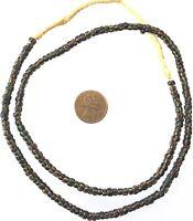 Antique Venetian Black Stripes Chevron glass African trade beads