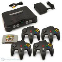 N64 / Nintendo 64 - Konsole + Mario Kart + 4 Controller + Zub.
