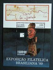Guinea Bissau (1989) Brasiliana '89 / Cultures and Ethnicities / Maps Art (MNH)