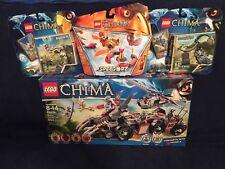 LEGO Chima Lot - 70009,70101,70109,70155 Worriz's Combat Lair, 3x Speedorz *NIB*
