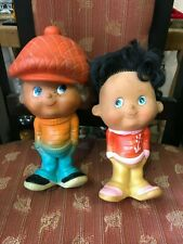 Vintage Old Rubber Boy and girl Doll Boy Cap