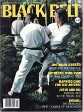 Black Belt Magazine Martial Arts Karate Hapkido Cane Jutsu and Do Bwang Jo Hess