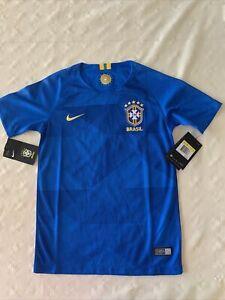 Soccer Jersey Nike Youth Unisex CBF Brasil Blue size S. Camiseta de Fútbol