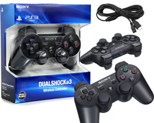 PS3 PLAYSTATION 3 Wireless Bluetooth Controller Black In A Box With A Free Cable