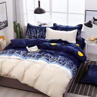 Night Doona Duvet Quilt Cover Set Single Double Queen King Size Bed Pillow Case