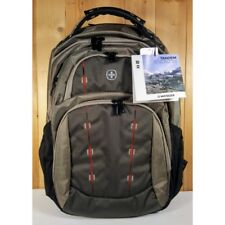 """Wenger Swiss Tandem Backpack, Taupe,16"""" Notebook, Laptop, Macbook * NEW *"""