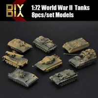 8pcs DIY Assembly Models 1:72 World War II Tanks Heavy Weapons Armor Tank Toy