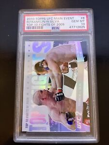 2010 Topps UFC Main Event Top 10 Fights  6 Rich Franklin/Wanderlei Silva PSA 10