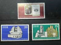 German DDR - 1975 - 275th Anniv of Academy of Science.  3 stamps - MNH