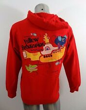 The Beatles Yellow Submarine men's hoodie jacket red M new