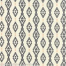 MODA Fabric ~ NOMAD ~ Urban Chiks (31103 11) Aztec Bone Onyx - by 1/2 yard