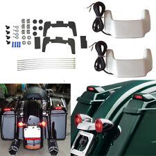 Hard Saddlebag Lid Spoiler LED Light Kit For Harley Touring Street Glide 93-13