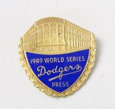 Original 1949 Brooklyn Dodgers World Series Press Pin