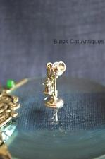 Detailed Vintage Candlestick Phone Silver Charm