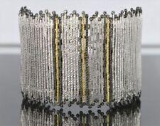 Pulseras de joyería con diamantes naturales de plata de ley