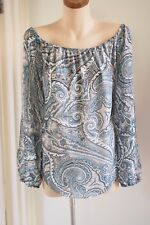 WHITE HOUSE BLACK MARKET  Printed Off the Shoulder Top  Sz XL / 16  BRAND NEW