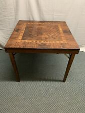 Antique Vintage Wood Folding Card Table Wow !