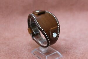 Handmade 18 20 22мм WATCH STRAP GENUINE LEATHER BAND Brown watch BAND