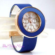 Relojes de pulsera de acero inoxidable con cronógrafo de mujer