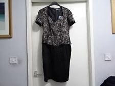 M&S WOMAN BLACK MIX WITH STRETCH SHIFT DRESS UK 14 RRP-£49.50
