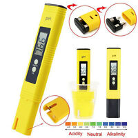 Lab Digital PH Meter Tester Aquarium Pool Soil Water Wine Urine LCD Pen Monitor