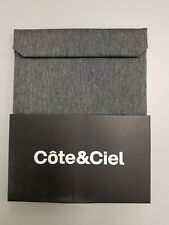 "Cote & Ciel Fabric Pouch for iPad mini or Universal 7-8"" tablet in Grey"