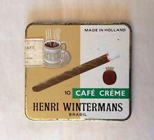 RARE Vintage HENRI WINTERMANS BRASIL CAFE CREME Small Cigars Empty Tin Box