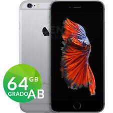 APPLE IPHONE 6S 64GB GRADO AB SPACE GRAY GRIGIO NERO RIGENERATO RICONDIZIONATO