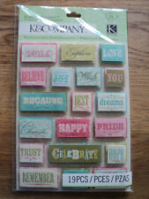 K & CO MERRYWEATHER WORD GRAND ADHESIONS STICKERS BNIP