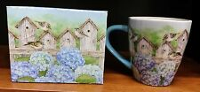 New Lang Hydrangea Fence Ceramic Decorative Coffee Tea Cup/Mug by Jane Shasky