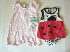 First Impressions Ladybug & Kyle & Deena One Piece Rompers Size 9-12 M ~ Lot 2