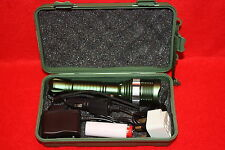 Green Rechargeable Zoomable CREE XM-LT6 LED  AAA Flashlight Led Torch Lamp Light