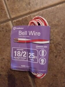 Southwire 64267101 Red/White Bell Wire Twisted 25 Feet Bell Wire NEW