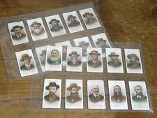 More details for original early set of twenty taddy's cigarette cards - boer leaders.